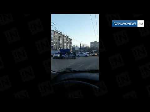 Машина Росгвардии попала в ДТП в Иванове