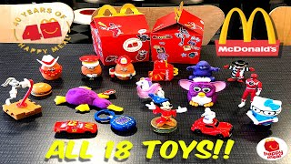 MCDONALDS 40 Years Of Happy Meals!! Retro Surprise Toys! All 18! Nov 2019!