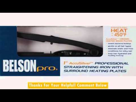 Belson Pro 1 Accusilver Professional Straightening Iron Youtube