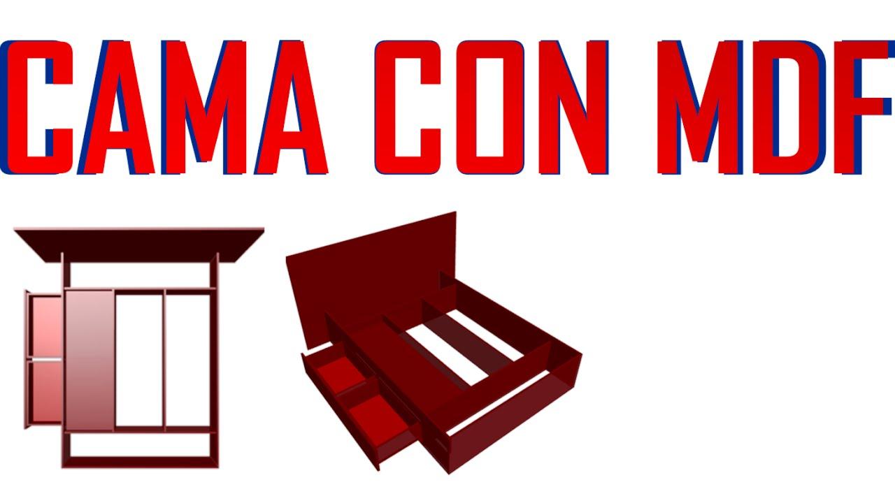 Planos para crear construir o dise ar una cama con mdf - Hacer una cama de madera ...