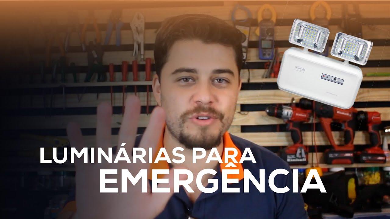 05 TIPOS de LUMINÁRIAS que evitam PROBLEMAS na hora da EMERGÊNCIA!