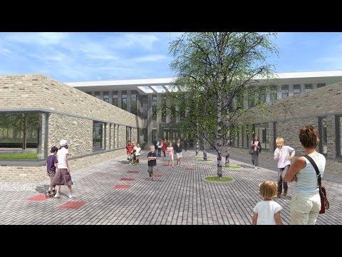 Architectural Animation School Building, Haaren, Netherlands by 3D Partners.