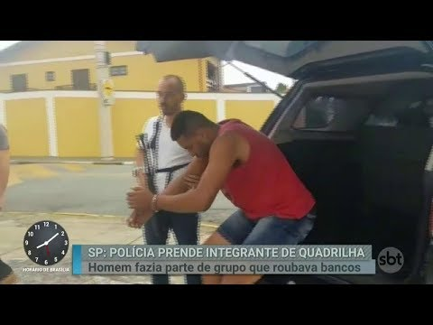 Polícia prende mais um integrante de quadrilha de ladrões de banco | Primeiro Impacto (02/03/18)