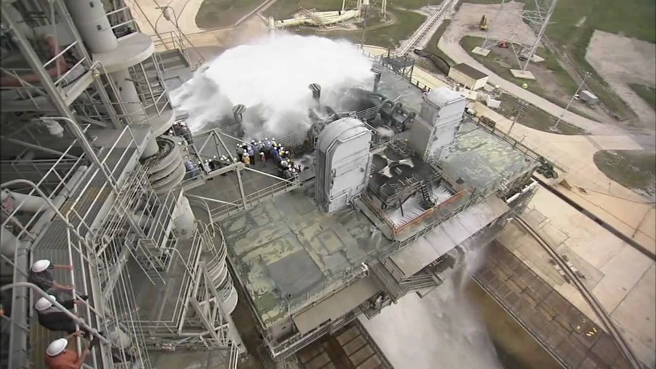 Launchpad Water Sound Suppression System Tested For Ares