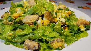 Салат на ужин, легко, вкусно, полезно. Много витаминов, мало калорий!