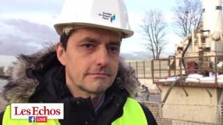 Grand Paris: sur le chantier de la future ligne 15 sud à Noisy-Champs