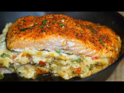 The Best Stuffed Salmon Recipe| Easy Salmon Recipe