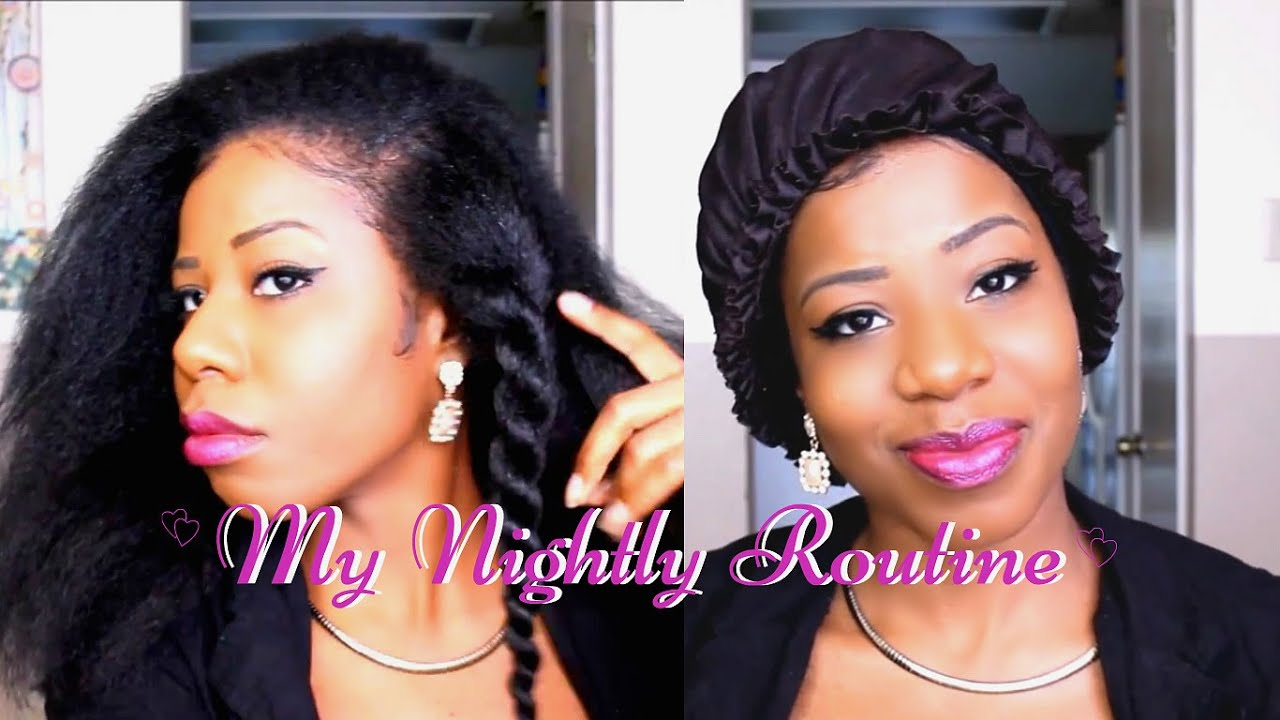 Crochet Braids: My Nightly Routine TEEDAY6 - YouTube