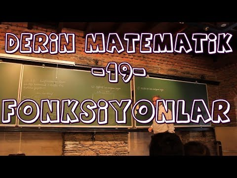 Ali Nesin-Derin Matematik-19- (Fonksiyonlar 1: Tanım, Birebir, Örten Fonksiyonlar)
