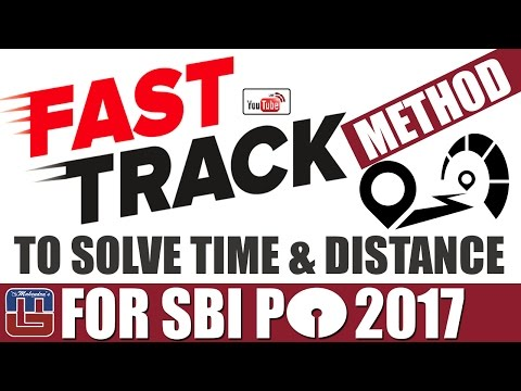 FAST TRACK METHOD TO SOLVE TIME & DISTANCE | SBI PO & OTHER EXAMS