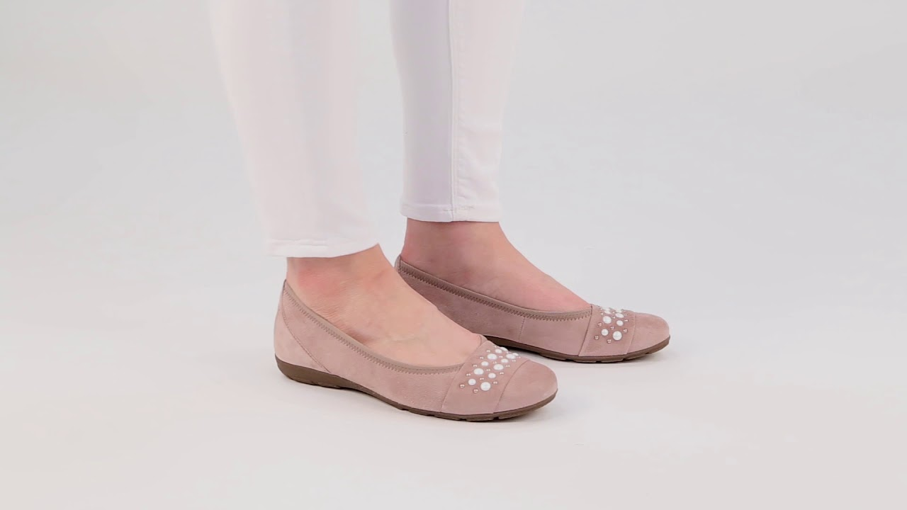 71a9f3448f9606 Gabor Electra Antique Rose Womens Modern Ballet Pumps - YouTube
