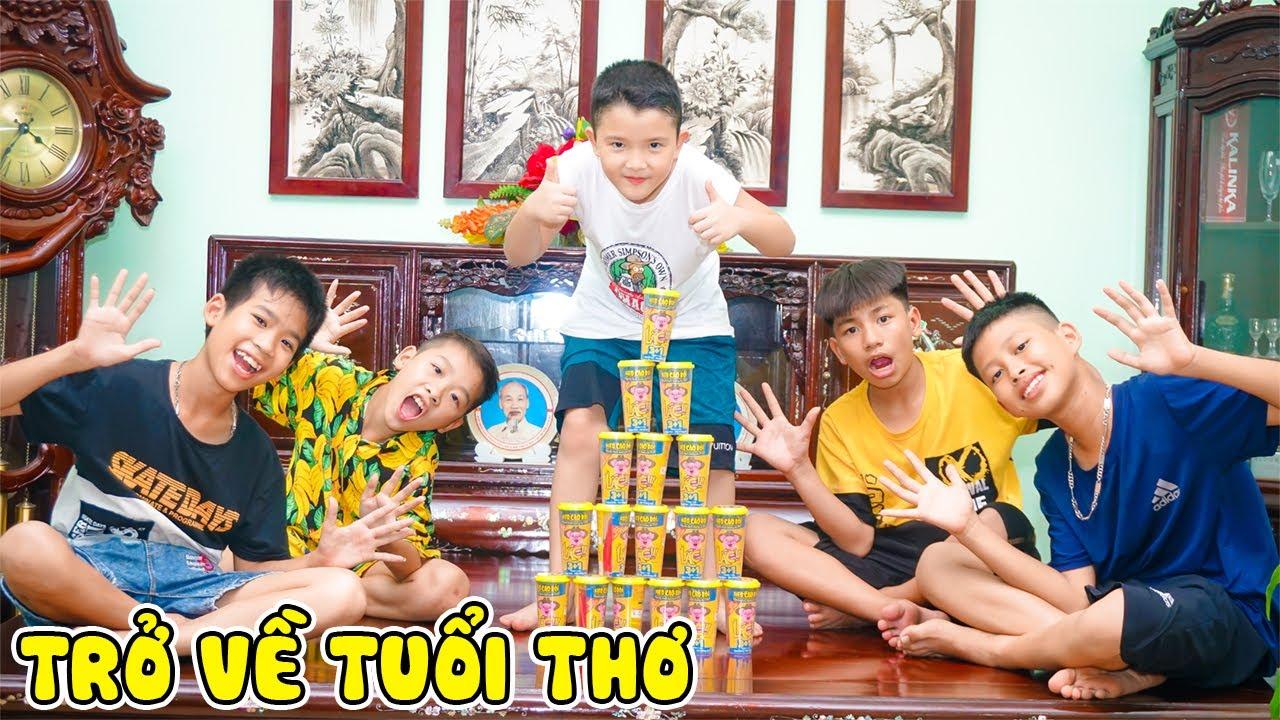 Trò Chơi Dân Gian Tuổi Thơ Tôi   Cướp Cờ Nhận Xúc Xích Lắc Heo Cao Bồi - Jun Jun Vlog