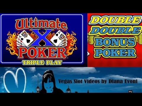Ultimate X Poker and Double Double Bonus Poker-Live Play!