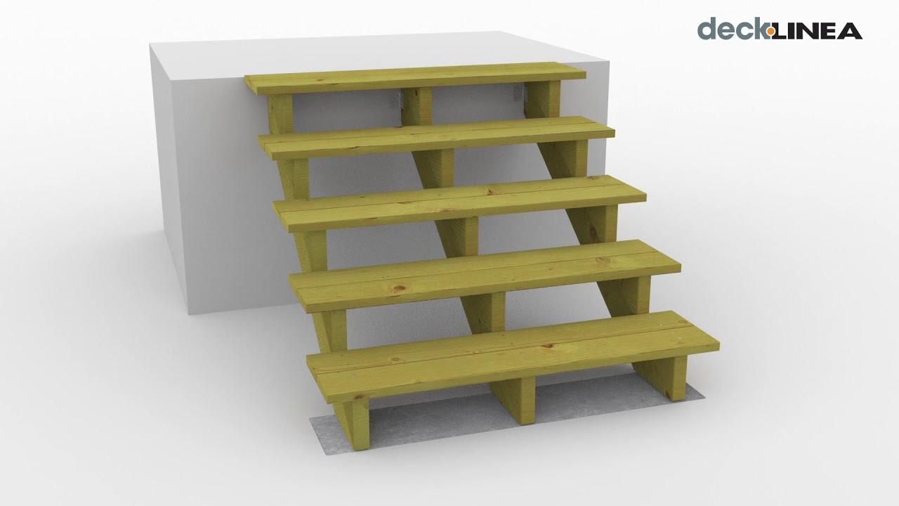 Escalier Exterieur Bois En Kit Facile A S Installer Sur Terrasse Bois Deck Linea