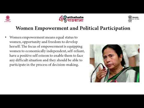 Political participation as a tool of women's empowerment