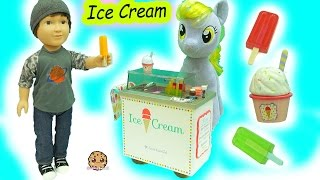 American Girl Doll Ice Cream Cart with Surprise Blind Bags &  My Little Pony Derpy