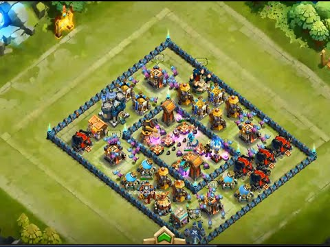 Castle Clash - Town Hall 14 Base Design To Beat Here Be Monsters Challenge I G