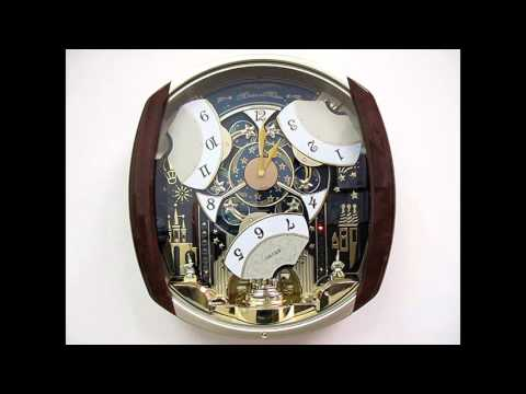 QXM496BRH Seiko Marquis Melodies in Motion Wall Clock - 12 Melodies - Swarovski Accents