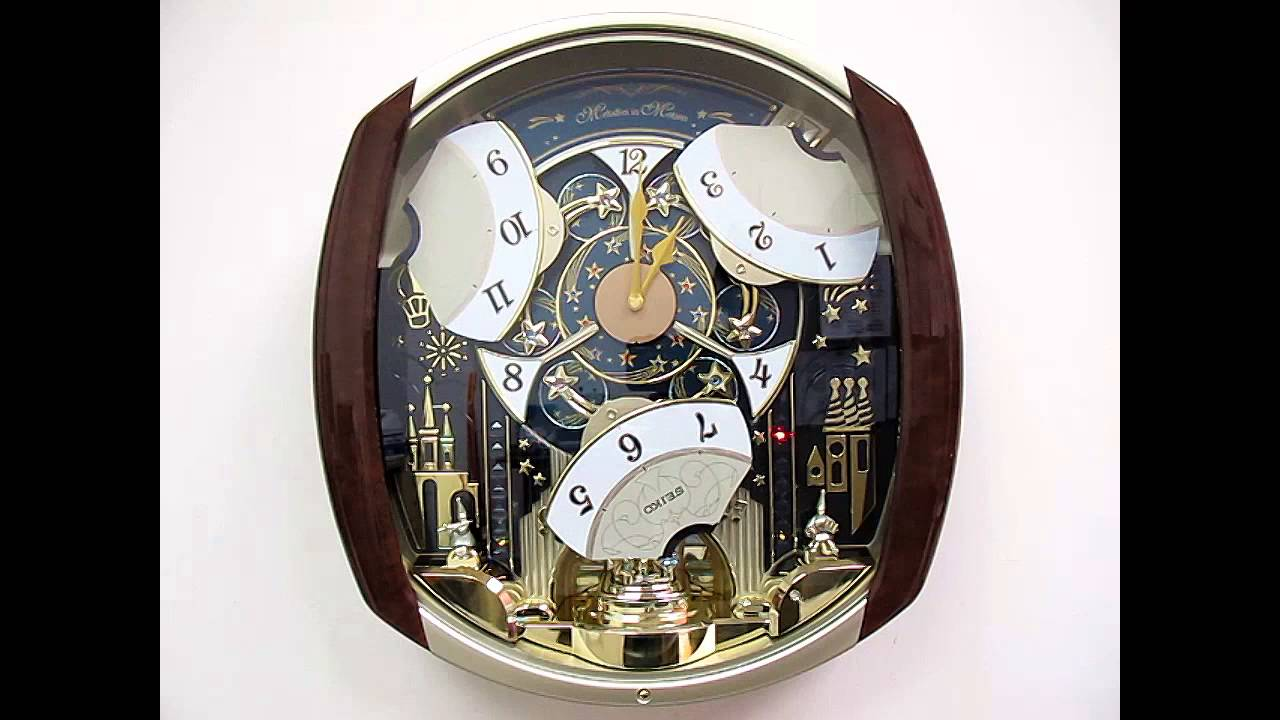 Qxm496brh seiko marquis melodies in motion wall clock 12 qxm496brh seiko marquis melodies in motion wall clock 12 melodies swarovski accents youtube amipublicfo Images