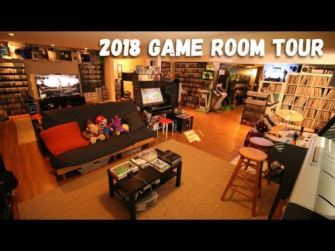 2018 Game Room Tour - 5500 Games & 80+ Systems (All Free!!!)