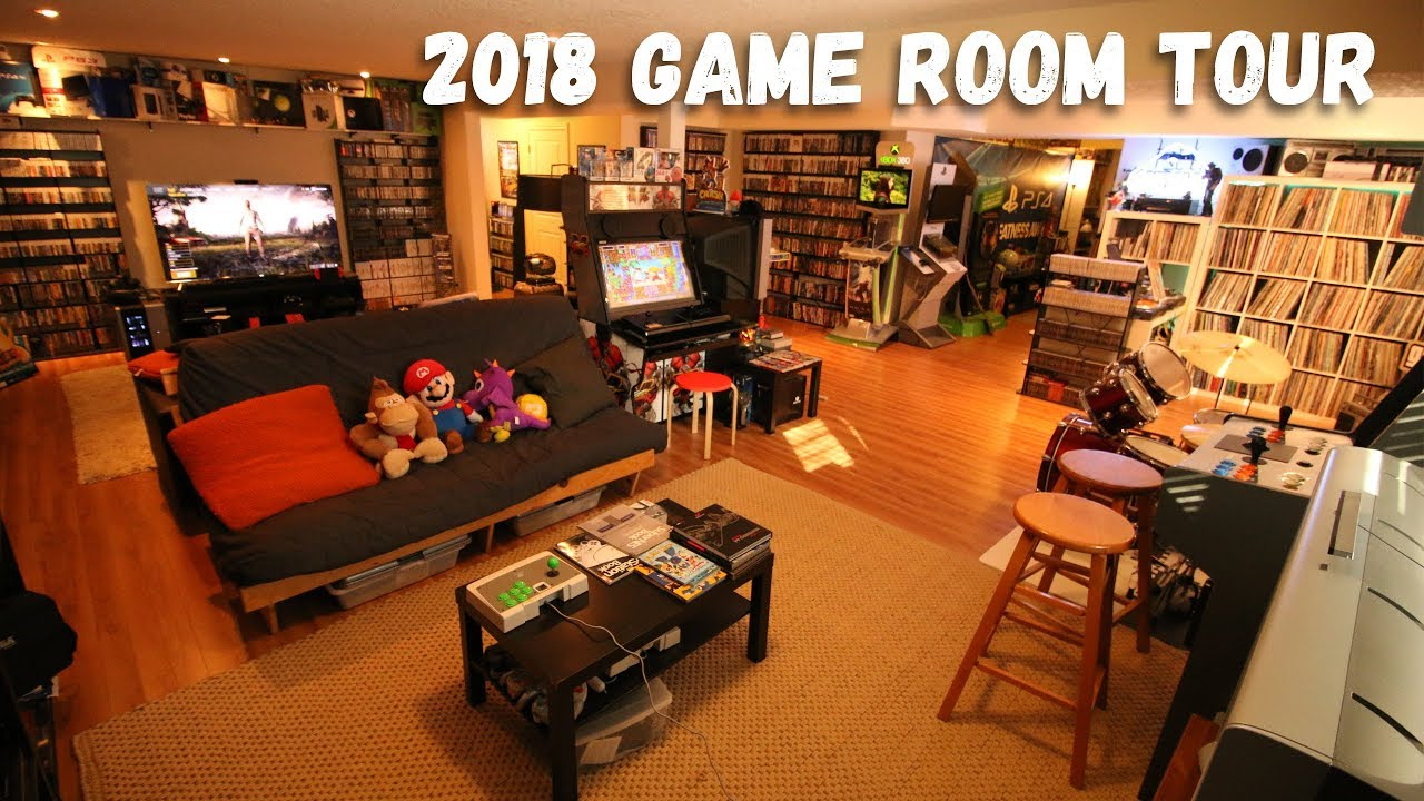 2018 Game Room Tour 5500 Games 80 Systems All Free Youtube