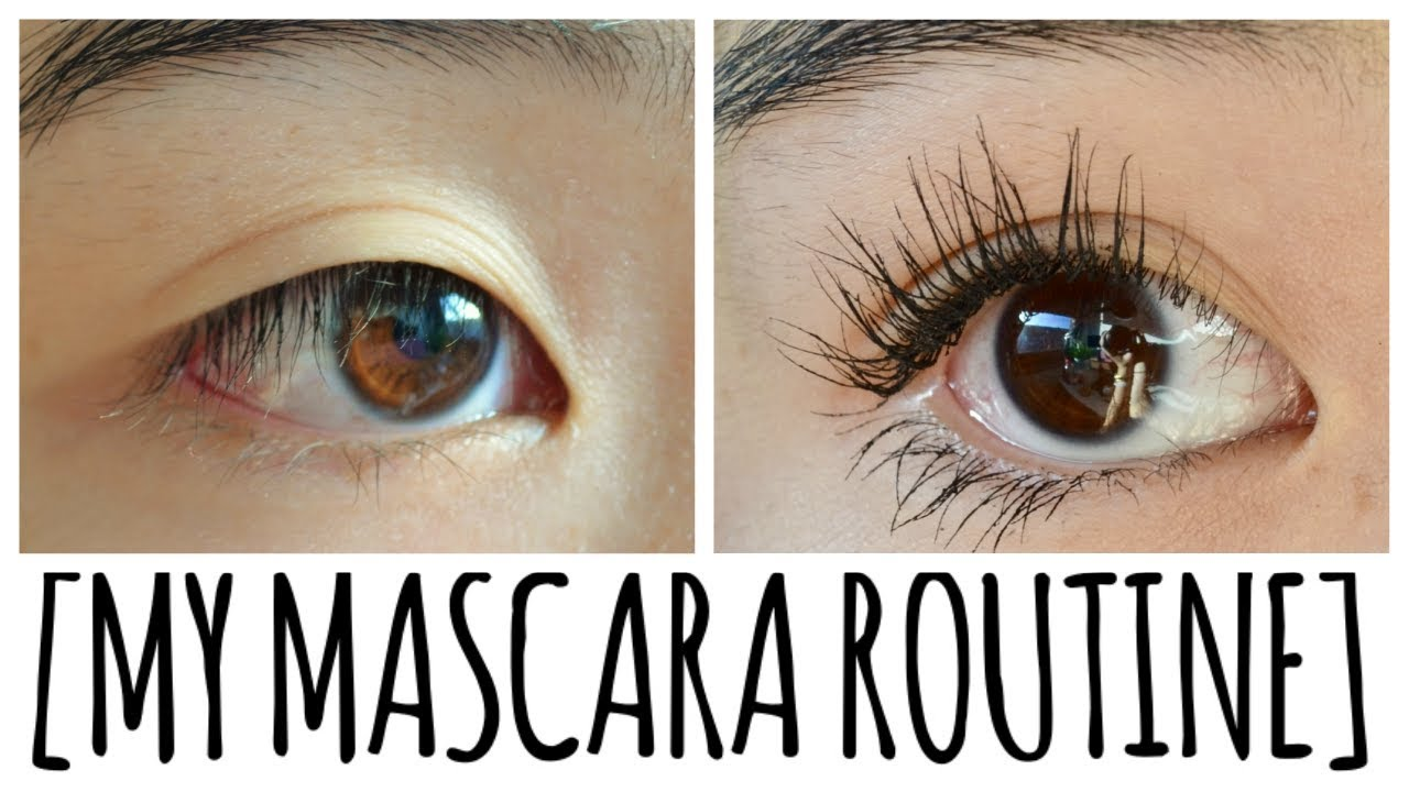 4f6d95edbc5 How to get FULL LASHES. MASCARA ROUTINE ~ tutorial for straight ...