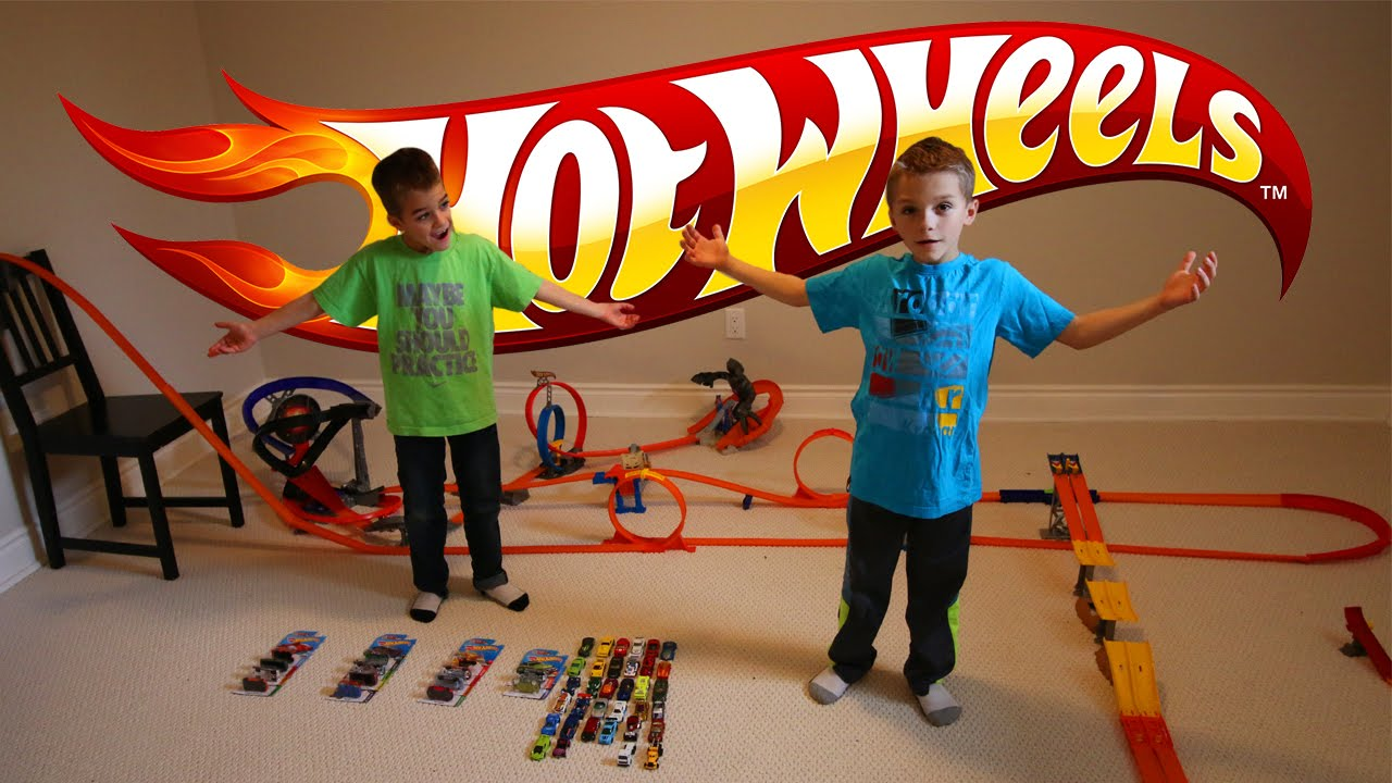 Hot Wheel Cars Big Track Racing Toys Youtube