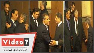 مكرم محمد أحمد وطاهر أبو زيد وعلام يؤدون واجب العزاء فى وفاة أمين بسيونى