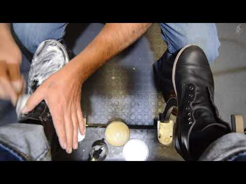 Having a tough day? Sit and have your boots Shined! | Shoe Shine ASMR |