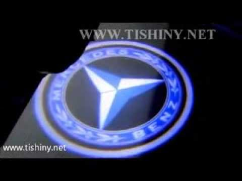 Led door courtesy light car logo mercedes benz youtube for Mercedes benz symbol light