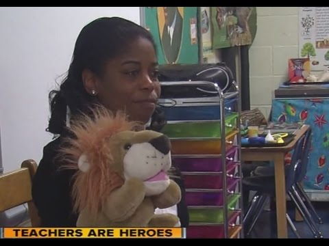 North Bend preschool teacher Shawnda Tyler combines learning with playtime
