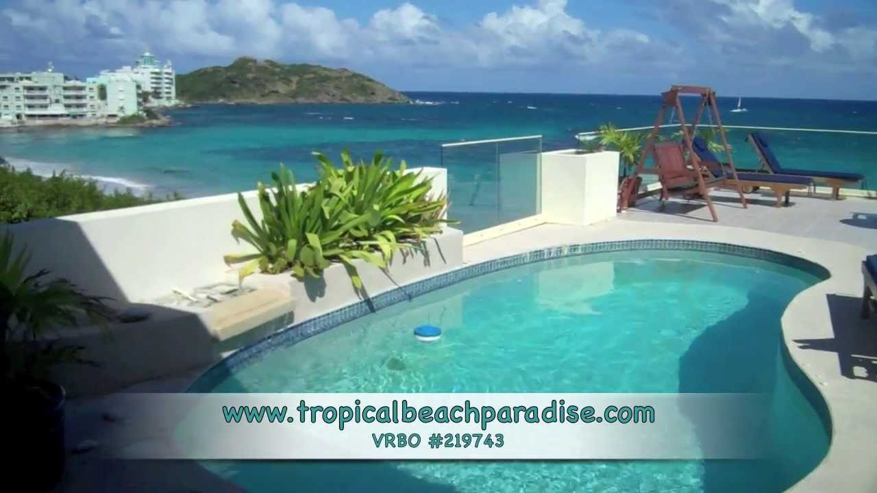 Explore The Beauty Of Caribbean: The Caribbean Beach Paradise, St Maarten HD TROPICAL BEACH
