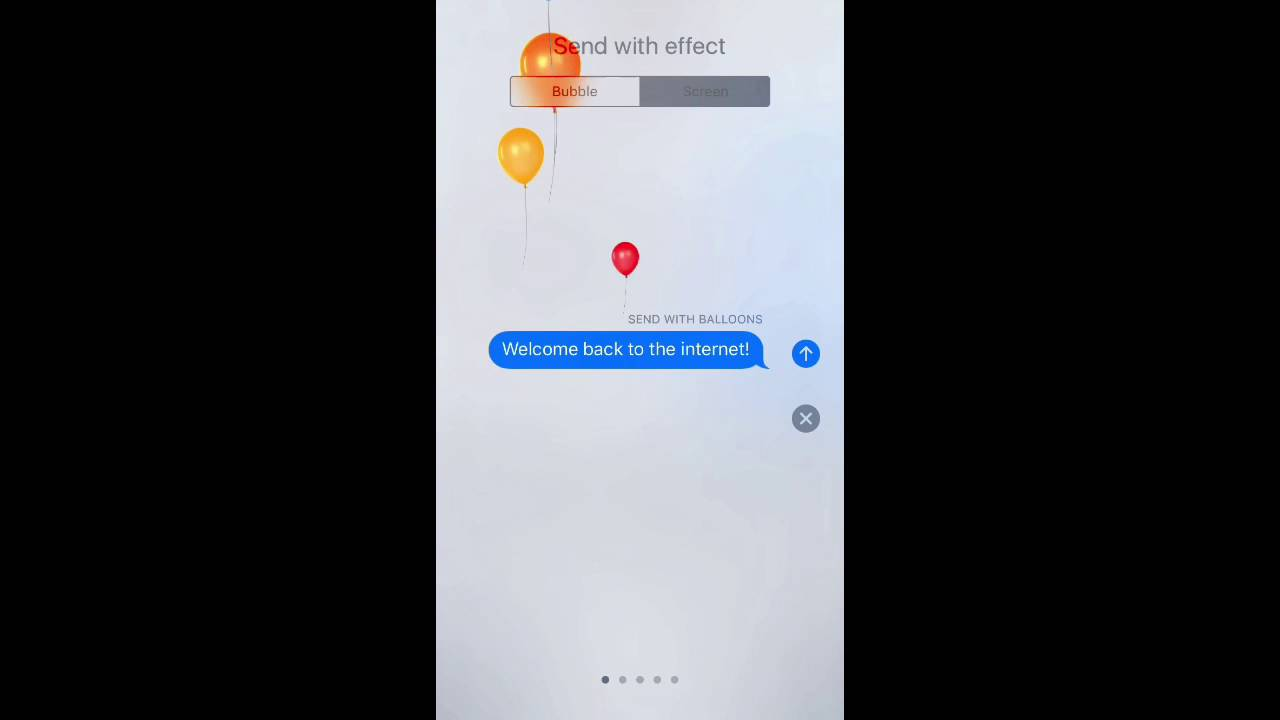 How to use iOS 10 Messages Screen Effects