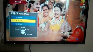 "Panasonic D400 LED TV 32"" menu features"