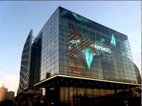 Transparent Glass Building Led Strip Display Youtube
