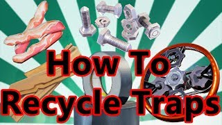 Fortnite - How To Recycle Traps | How To Get 100% Materials Back From Traps!