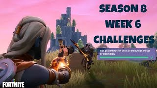 Fortnite - GET AN ELIMINATION WITH A FLINT KNOCK PISTOL OR BOOM BOW - SEASON 8 WEEK 6 CHALLENGES