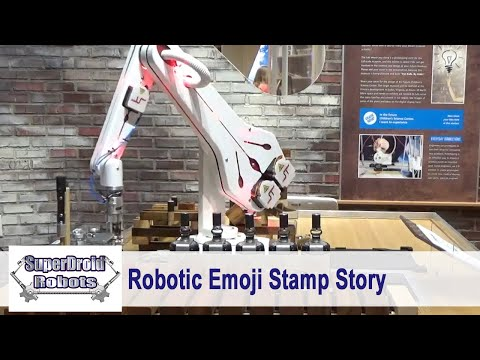 SuperDroid Robots Robotic Emoji Stamp Story at Children's Science Center
