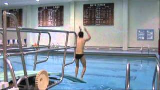 Diving Practice Twisting issues