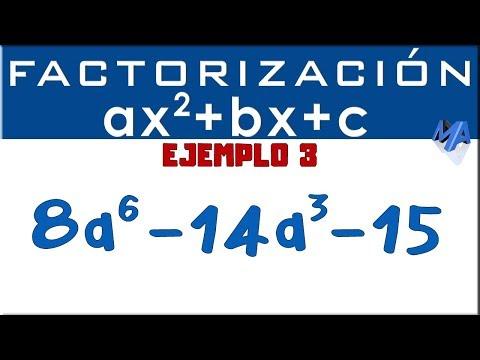 Factorización Trinomio De La Forma Ax2+bx+c | Ejemplo 3