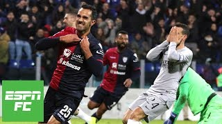 Roma collapses against 9-man Cagliari in 2-2 draw   Serie A Highlights