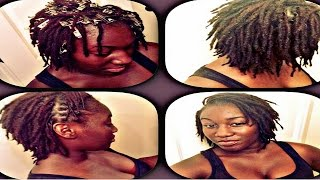 How To Palm Roll and Comb Twist  DreadLocks