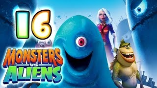 Monsters VS Aliens Walkthrough Part 16 (PS3, X360, Wii, PS2) ~ Ginormica Level 16