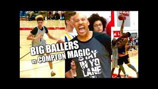 LaMelo Ball & BIG Ballers vs Compton Magic Highlights! James Harden & Lonzo Ball Courtside