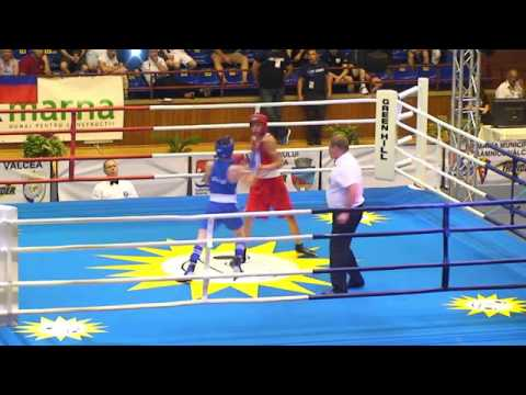 Boxing  FINAL  2017 25 JUL( 52kg) RED MKHITARYAN GOR ARM VS BLUE GAGNIDZE Lasha GEO - RED WP 5:0.