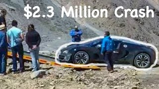 $2.3 MILLION BUGATTI VEYRON CRASHES BADLY