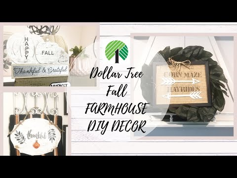 DOLLAR TREE Fall FARMHOUSE DIY DECOR | Fall WALL DECOR DIYS | MODERN FARMHOUSE DECOR