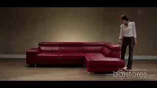 Natuzzi Editions Modern Leather #Sectional #Sofa B619 at ba stores com