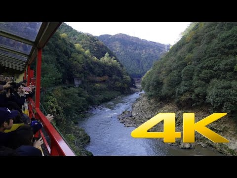 Kyoto Kameoka Sagano Romantic Train - 嵯峨野観光鉄道 - 4K Ultra HD