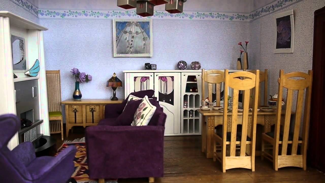 Charles Rennie Mackintosh Dolls House YouTube - Dolls house interior
